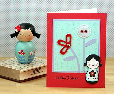 cartão Floral-momiji